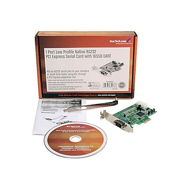 StarTech PEX1S553LP 1 Port Low Profile Native RS232 PCI-Express Serial Card