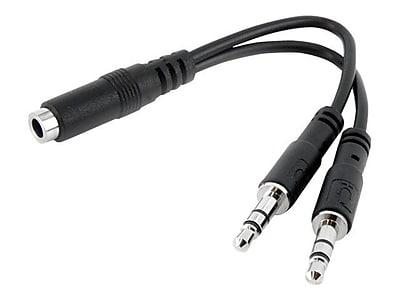 adapters splitters staples Ethernet Port startech muyhsfmm headset splitter adapter black