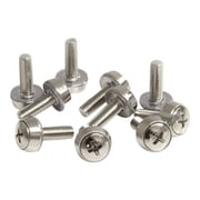 StarTech CABSCREWM52 Mounting Screws and Cage Nuts For Server Rack Cabinet, 100/Pack