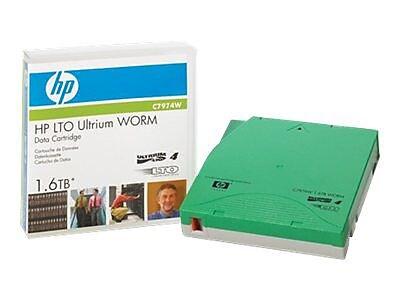 HP® LTO-4 Ultrium Data Cartridge, 1.6TB (C7974W)