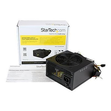 Startech® ATX12V 2.3 80 Plus Computer Power Supply With Active PFC, 430 W