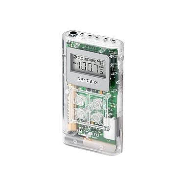 Sangean DT-120 AM/FM Pocket Radio, Clear