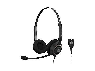 Sennheiser SC 260 Circle 2-Ear Wideband Dual Sided Headset with ED, Black/Silver