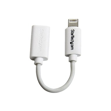 StarTech Micro USB To Apple 8-pin Lightning Connector Adapter For iPhone/iPod/iPad, White
