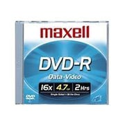 Maxell 638004 4.7 GB DVD-R Slim Jewel Case, 10/Pack