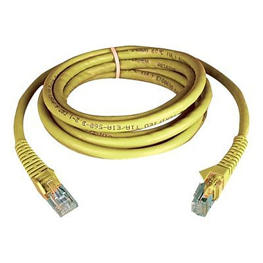 Tripp Lite N201-002-YW 2' Cat6 RJ45 Male/Male Snagless Molded Patch Cable, Yellow