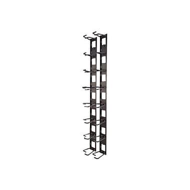 APC® AR8442 Vertical Cable Organizer, 8 Cable Rings, Zero U