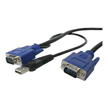 StarTech SVECONUS6 2-In-1 Ultra Thin USB KVM Cable, 6'