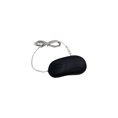 GRANDTEC USA MOU-600B Virtually Indestructible USB Wired Optical Mouse, Black