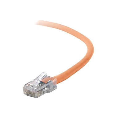 Belkin A3L791-25-ORG 25' CAT-5e RJ-45 Assembled Duplex Patch Cable, Orange