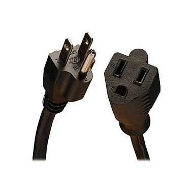 Tripp Lite® SJT 5-15P/5-15R Heavy-Duty Power Extension Cord, 14 AWG, 3'