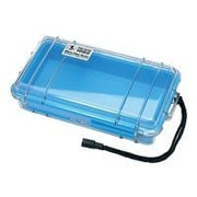 Pelican™ 1060 Micro Case For Traveling Essentials, Clear With Blue Liner