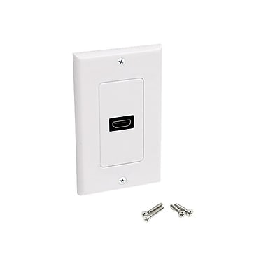StarTech HDMIPLATE Single Outlet Female HDMI® Wall Plate, White
