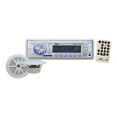 Pyle® PLMRKT33WT Marine AM/FM PLL Tuning Radio With USB/SD/MMC
