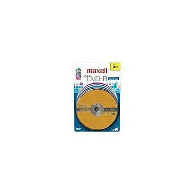 Maxell 638033 4.7 GB DVD-R Blister, 5/Pack