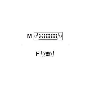 Avocent VAD-27 DVI-I to VGA Video Adapter, White