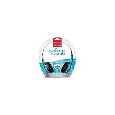Maxell 190297 Stereo Over-Ear Safe Soundz Headphone, Blue