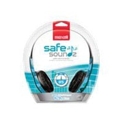 Maxell 190297 Stereo Over-Ear Safe Soundz Headphone, Blue