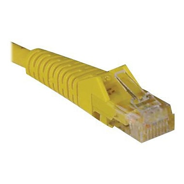 Tripp Lite 1' Cat5e RJ45/RJ45 Snagless Molded Cable, Yellow