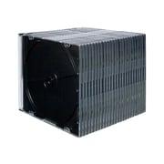Fellowes® NEATO Slim Jewel Case, Clear/Black, 25/Pack