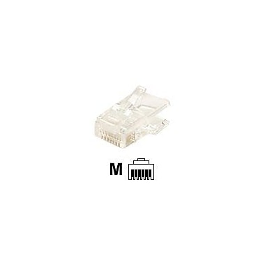 STEREN® 300-066-25 RJ-12 Flat Cable Modular Plug, Clear