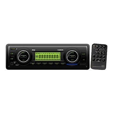 Pyle® PLMR87WB AM/FM-MPX Marine Flash Audio Player W/Weatherband/USB & SD Card Function, Black