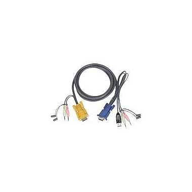 Iogear® Micro-Lite™ G2L5303U Bonded All-in-One USB KVM Cable, 10'(L)
