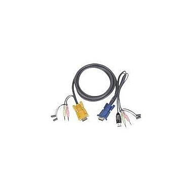 IogearMD – Câble KVM USB tout-en-un limité G2L5303U de Micro-LiteMD, 10 pi (L)