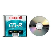 Maxell 648201 700 MB CD-R Slim Jewel Case