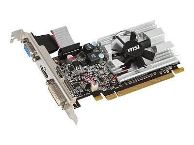 msi™ R6450-MD1GD3/LP Radeon HD 6450 GPU Graphic Card With ATI Chipset, 1 GB DDR3 SDRAM