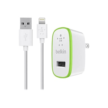 Belkin Data Transfer Cable, 4', White, Lightning/USB (F8J052TT04-WHT)