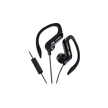 JVC HA-EBR80B Stereo Sports Clip In-Ear Headphone with Mic, Black