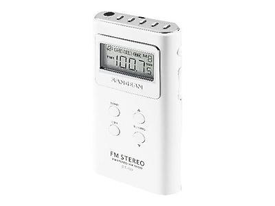 Sangean DT-120 AM/FM Pocket Radio, White
