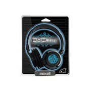 Maxell 190265 Amplified Over-Ear Headphone, Blue