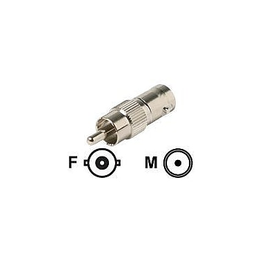 STEREN 200-170-10 BNC to RCA Coaxial Adapter, Silver
