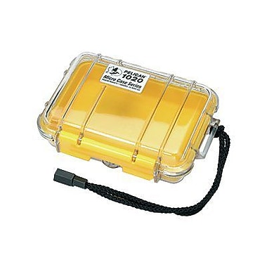 Pelican 1020-027-100 Micro Case for Small Accessories, Clear/Yellow