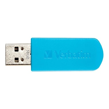 Verbatim Mini USB 2.0 Flash Drive, 16GB, Blue (Includes cap)