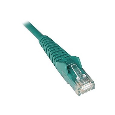 Tripp Lite N201-006-GN 6' CAT-6 Gigabit Snagless Molded Patch Cable, Green (3295062)