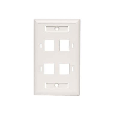 Tripp Lite® N042-001-04 Keystone White Faceplate, 4 Ports (3344806)