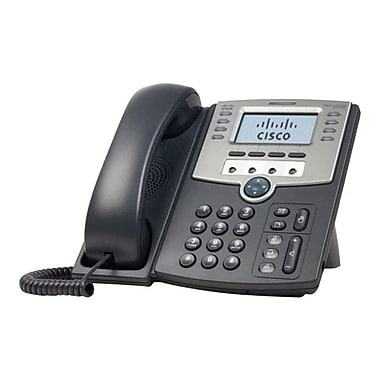 Cisco SPA509G 12-Line Corded VOIP Telephone, Black/Gray