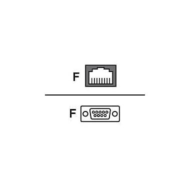 Avocent® ADB0036 Serial RJ-45F to DB-9F Crossover Adapter, Black