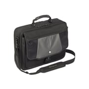 """Targus® Blacktop Deluxe CPT401DUS 17"""" Laptop Case With Dome Protection, Black/Gray"""