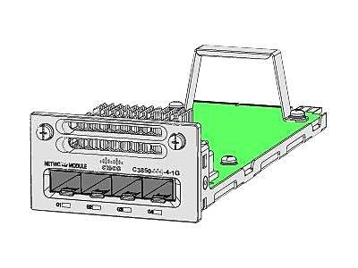 Cisco™ Catalyst 3850 Series Gigabit Ethernet Network Module, 4-Ports, (C3850-NM-4-1G)