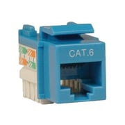 Tripp Lite Cat6/Cat5e 110 Style Punch Down Keystone Jack, Blue