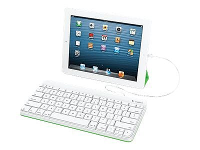Logitech® Wired Keyboard For iPad, White (920-006341)