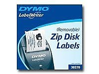 Dymo 30370 Zip Drive Multi-Purpose Removable Diskette Labels, White, 250/Roll