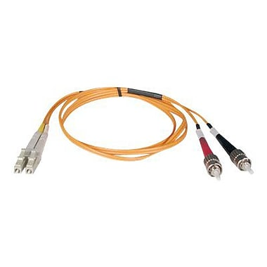 Tripp Lite 3' Duplex MMF LCM to STM Patch Cable, Orange