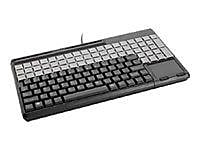 CHERRY® Black 123 Keys USB 2.0 G86-614 Triple Track SPOS Multi Functional Qwerty Keyboard