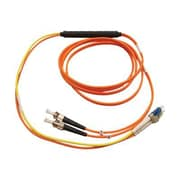 Tripp Lite 10' Fiber Optic LC/ST Duplex Conditioning Patch Cable, Orange/Yellow