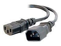 C2G® SJT Computer Power Extension Cord, 16 AWG, 6 ft (L)
